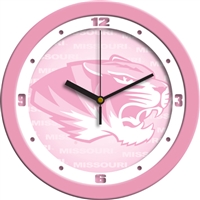 "Missouri Tigers 12"" Wall Clock - Pink"