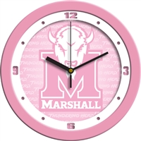 "Marshall Thundering Herd 12"" Wall Clock - Pink"