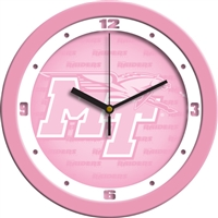 "Middle Tennessee State (MTSU) Blue Raiders 12"" Wall Clock - Pink"