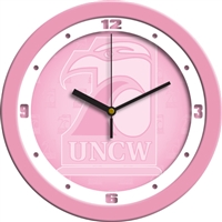 "North Carolina Wilmington (UNCW) Seahawks 12"" Wall Clock - Pink"
