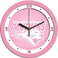 "Northern Iowa Panthers 12"" Wall Clock - Pink"