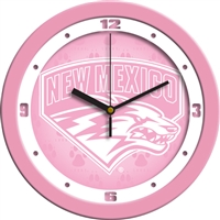 "New Mexico Lobos 12"" Wall Clock - Pink"