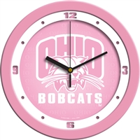 "Ohio Bobcats 12"" Wall Clock - Pink"