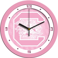 "South Carolina Gamecocks 12"" Wall Clock - Pink"