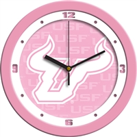 "South Florida Bulls 12"" Wall Clock - Pink"