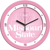 "Missouri State Bears 12"" Wall Clock - Pink"