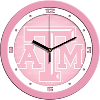 "Texas A&M Aggies 12"" Wall Clock - Pink"