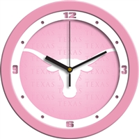 "Texas Longhorns 12"" Wall Clock - Pink"