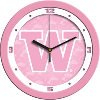 "Washington Huskies 12"" Wall Clock - Pink"