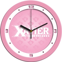 "Xavier Musketeers 12"" Wall Clock - Pink"
