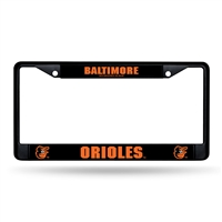 Baltimore Orioles MLB Black (Metal) Lincense Plate Frame