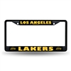 Los Angeles Lakers NBA Black License Plate Frame