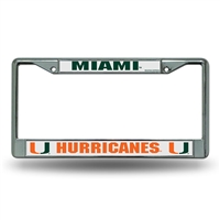 Miami Hurricanes NCAA Chrome License Plate Frame