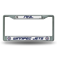 Winnipeg Jets NHL Chrome License Plate Frame