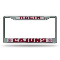 Louisiana Lafayette Ragin Cajuns NCAA Chrome License Plate Frame