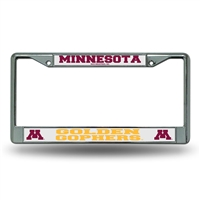 Minnesota Golden Gophers NCAA Chrome License Plate Frame