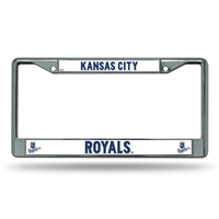 Kansas City Royals MLB Chrome License Plate Frame