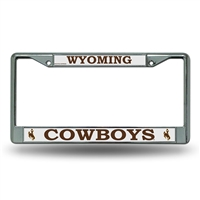 Wyoming Cowboys NCAA Chrome License Plate Frame