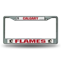 Calgary Flames NHL Chrome License Plate Frame