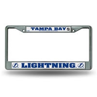 Tampa Bay Lightning NHL Chrome License Plate Frame