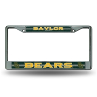 Baylor Bears NCAA Bling Glitter Chrome License Plate Frame