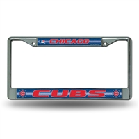 Chicago Cubs MLB Bling Glitter Chrome License Plate Frame