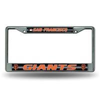 San Francisco Giants MLB Bling Glitter Chrome License Plate Frame