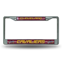 Cleveland Cavaliers NBA Bling Glitter Chrome License Plate Frame
