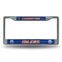 Edmonton Oilers NHL Bling Glitter Chrome License Plate Frame