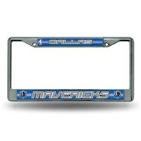 Dallas Mavericks NBA Bling Glitter Chrome License Plate Frame