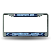 Memphis Grizzlies NBA Bling Glitter Chrome License Plate Frame