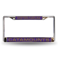 Western Carolina Catamounts NCAA Chrome Laser Cut License Plate Frame