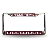 Mississippi State Bulldogs NCAA Laser Chrome Frame