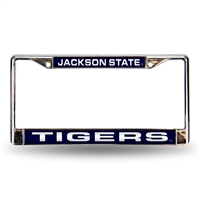 Jackson State Tigers NCAA Laser Chrome License Plate Frame