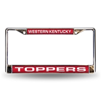 Western Kentucky Hilltoppers NCAA Chrome Laser Cut License Plate Frame