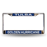 Tulsa Golden Hurricane NCAA Laser Chrome License Plate Frame