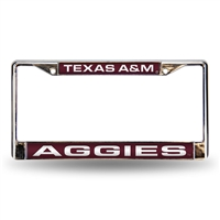 Texas A&M Aggies NCAA Laser Chrome Frame