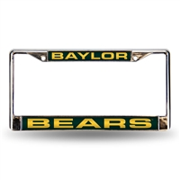 Baylor Bears NCAA Laser Chrome License Plate Frame