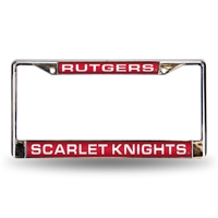 Rutgers Scarlet Knights NCAA Laser Chrome License Plate Frame