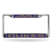 James Madison Dukes NCAA Laser Chrome License Plate Frame