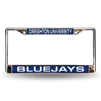 Creighton Bluejays NCAA Chrome Laser Cut License Plate Frame