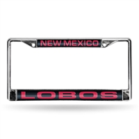 New Mexico Lobos NCAA Chrome Laser Cut License Plate Frame