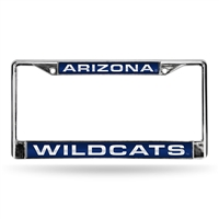 Arizona Wildcats NCAA Laser Chrome License Plate Frame