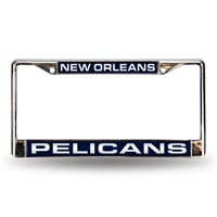 New Orleans Pelicans NBA Laser Chrome License Plate Frame