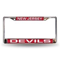 New Jersey Devils NHL Laser Chrome Frame