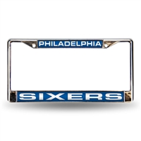 Philadelphia 76ers NBA Laser Chrome License Plate Frame