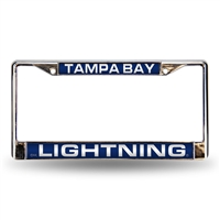 Tampa Bay Lightning NHL Laser Chrome License Plate Frame