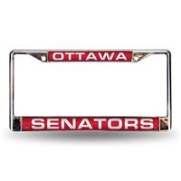 Ottawa Senators NHL Laser Chrome License Plate Frame