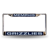 Memphis Grizzlies NBA Laser Chrome Frame