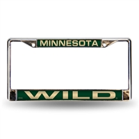 Minnesota Wild NHL Laser Chrome Frame